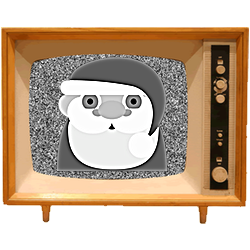 Black & White Emoji TV messages sticker-10