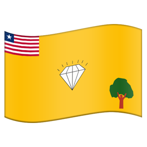 Liberian County Flag Stickers messages sticker-2