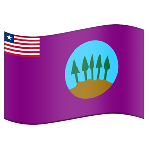 Liberian County Flag Stickers messages sticker-0