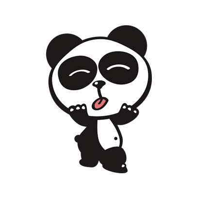 Happy Panda Stickers messages sticker-5