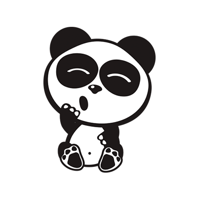 Happy Panda Stickers messages sticker-8