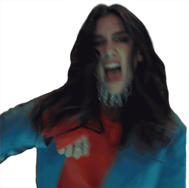 Dua Lipa Sticker Pack messages sticker-1