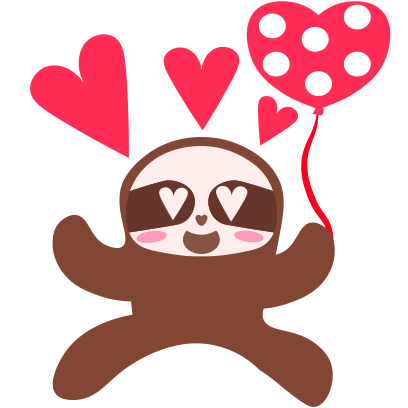Sloth Halloween Domoji messages sticker-4