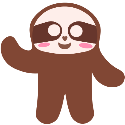 Sloth Halloween Domoji messages sticker-10