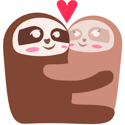 Sloth Halloween Domoji messages sticker-6