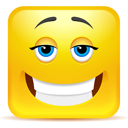 Yellow Square Smiley Emoji Stickers messages sticker-6