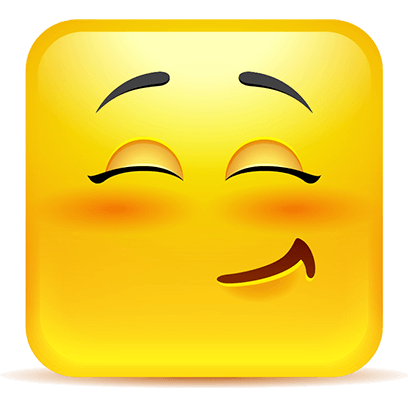 Yellow Square Smiley Emoji Stickers messages sticker-10