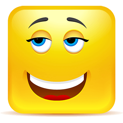 Yellow Square Smiley Emoji Stickers messages sticker-3
