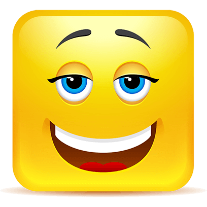 Yellow Square Smiley Emoji Stickers messages sticker-4