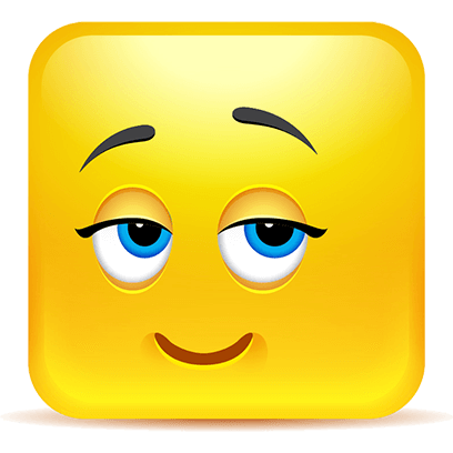 Yellow Square Smiley Emoji Stickers messages sticker-5