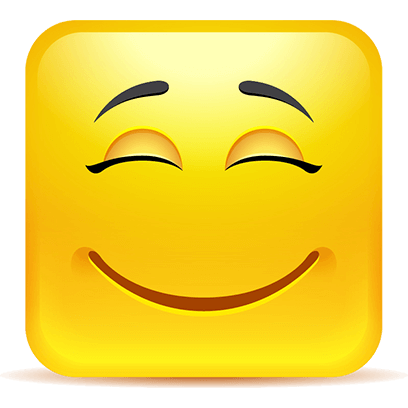 Yellow Square Smiley Emoji Stickers messages sticker-9