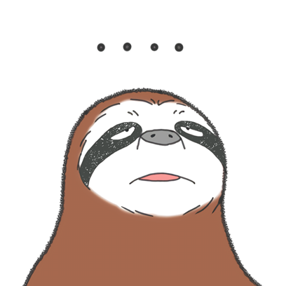 Sloth Slow and Cool Life messages sticker-1