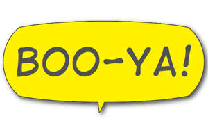 Boo-Ya! Comic Interjection Bubbles messages sticker-5