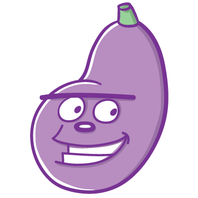 Aubergine Boys: Eggplant Stickers by Blake Jones messages sticker-1