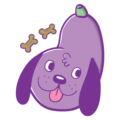 Aubergine Boys: Eggplant Stickers by Blake Jones messages sticker-11