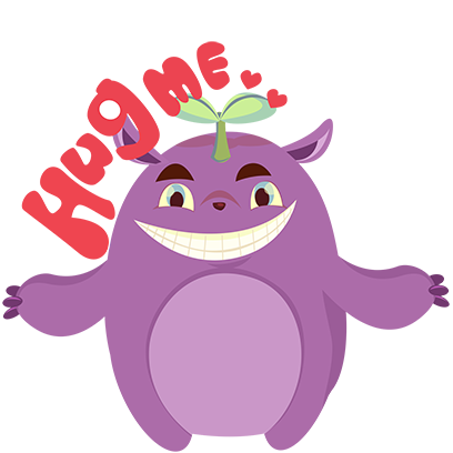 Perry the Purple Monster messages sticker-2