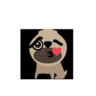 BUBU Pug messages sticker-0