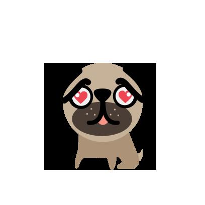 BUBU Pug messages sticker-1