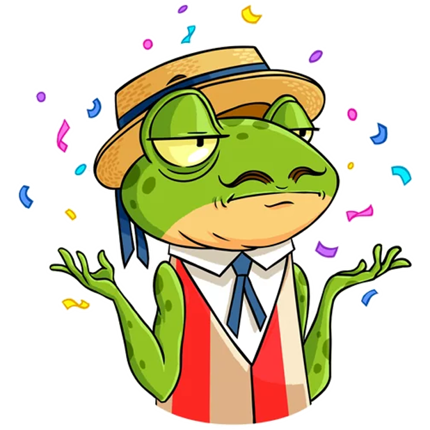 Mr. Ribbit messages sticker-0