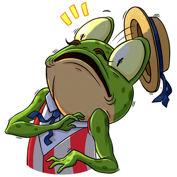 Mr. Ribbit messages sticker-11