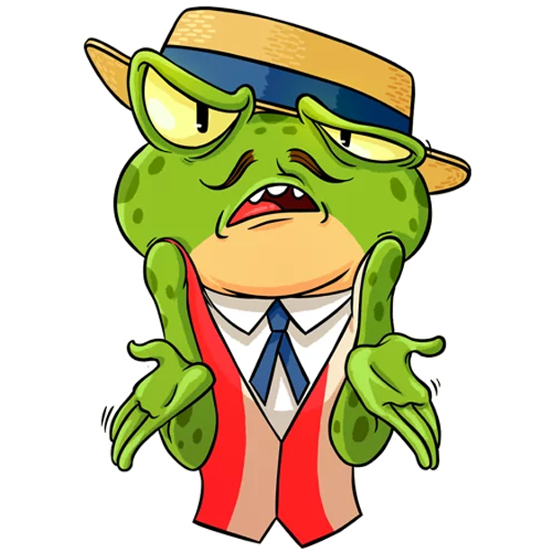 Mr. Ribbit messages sticker-7