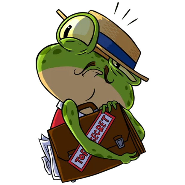 Mr. Ribbit messages sticker-8