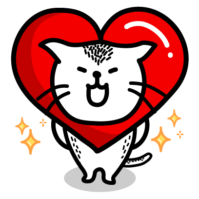 Heart Cat Lite - Mango Sticker messages sticker-1