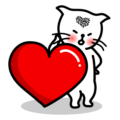 Heart Cat Lite - Mango Sticker messages sticker-7