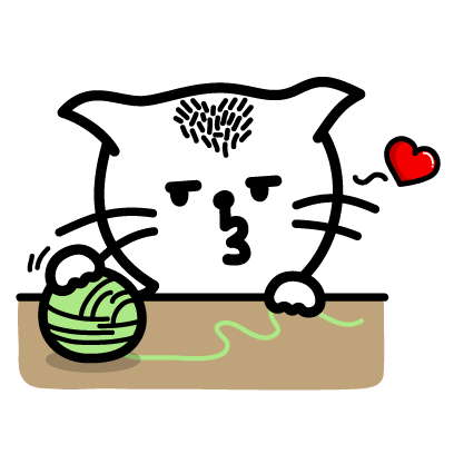 Heart Cat Lite - Mango Sticker messages sticker-3