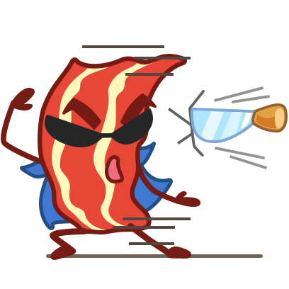 Bacon Animated Sticker Pack messages sticker-8