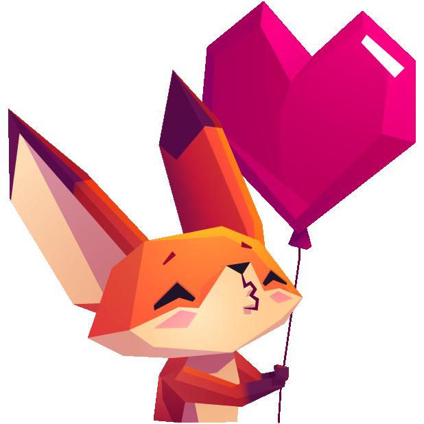 The Little Fox stickers messages sticker-1