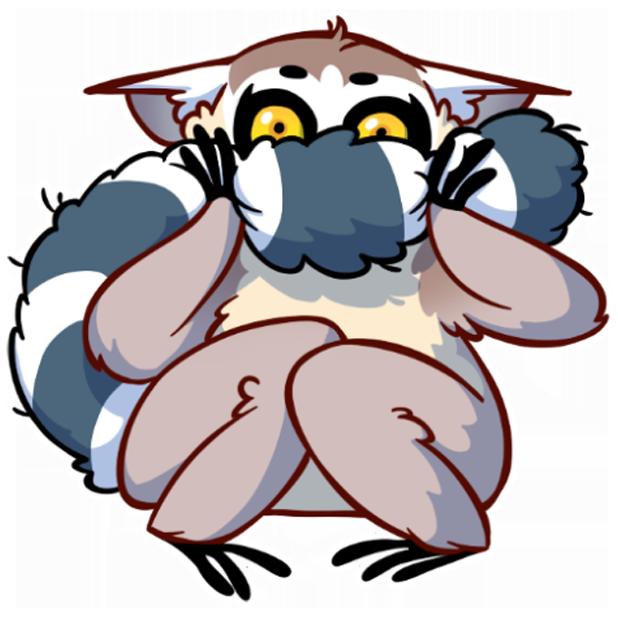 Tailor the Lemur messages sticker-7