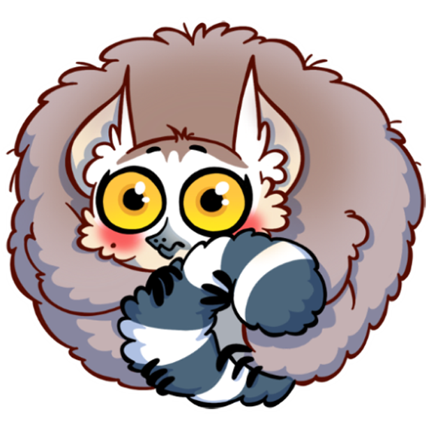 Tailor the Lemur messages sticker-6