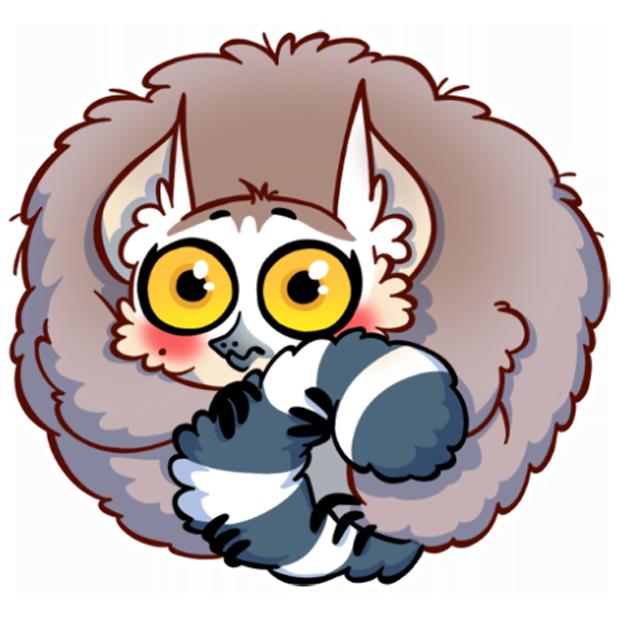Tailor the Lemur messages sticker-6