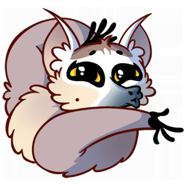 Tailor the Lemur messages sticker-4