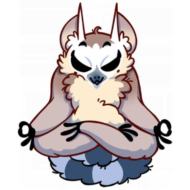 Tailor the Lemur messages sticker-8