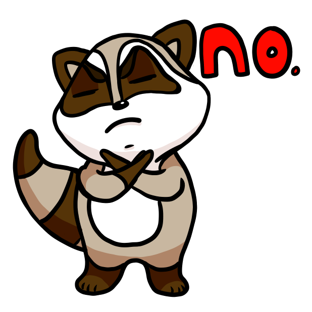Bandit the Raccoon messages sticker-0