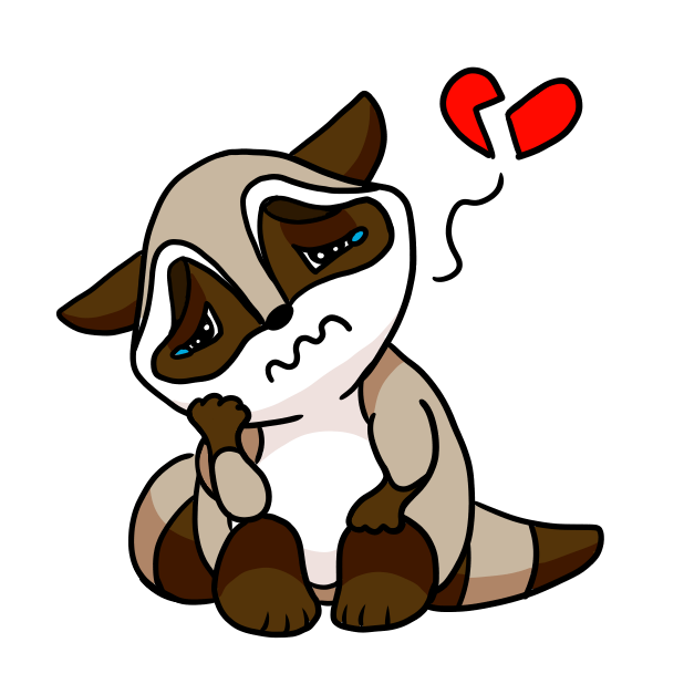 Bandit the Raccoon messages sticker-8