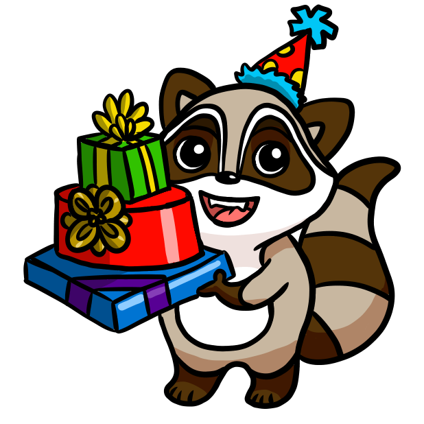 Bandit the Raccoon messages sticker-1