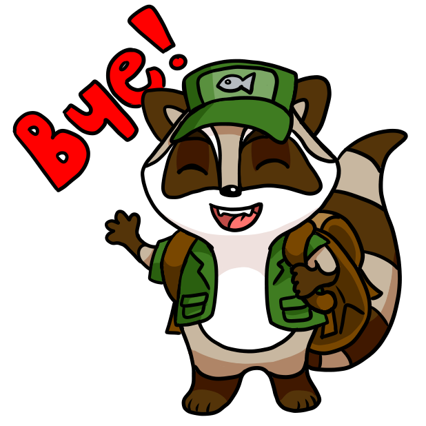Bandit the Raccoon messages sticker-3