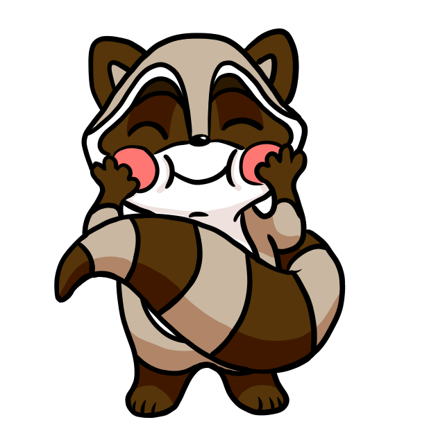 Bandit the Raccoon messages sticker-7