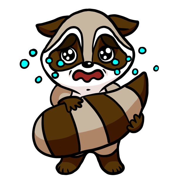Bandit the Raccoon messages sticker-11