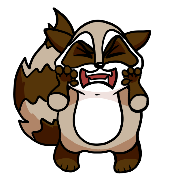Bandit the Raccoon messages sticker-5