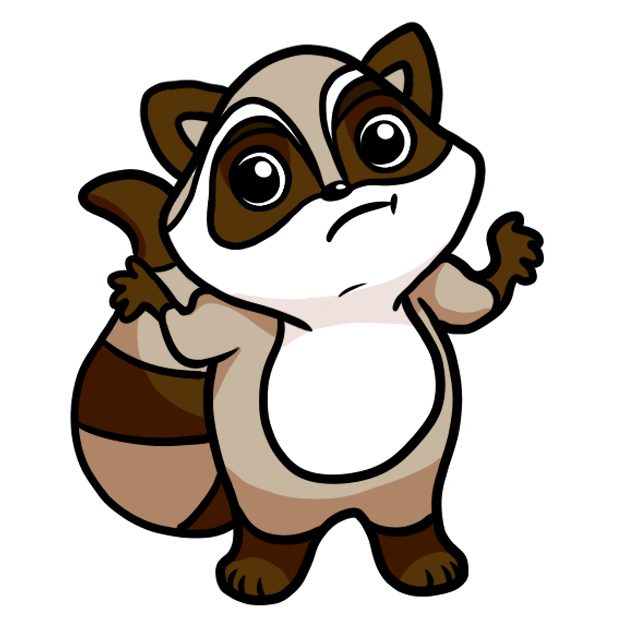 Bandit the Raccoon messages sticker-2