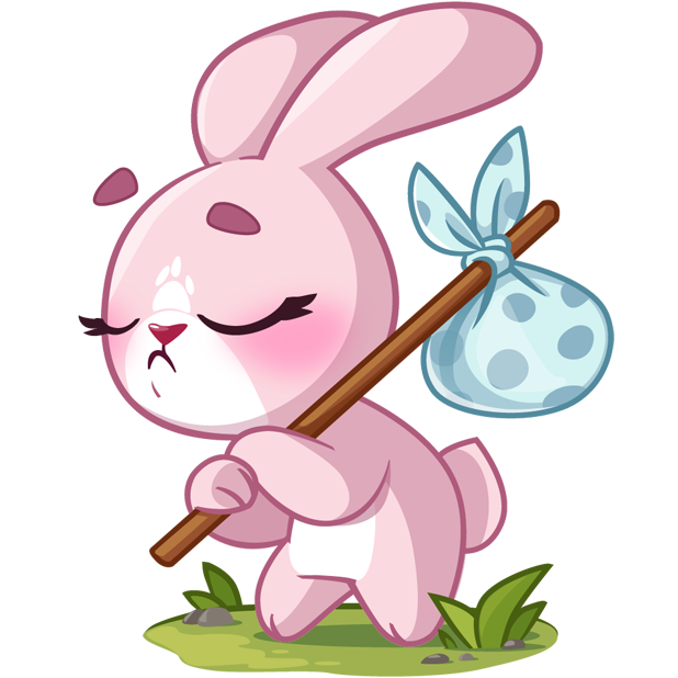 Rosy Bunny messages sticker-9