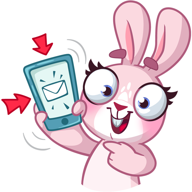 Rosy Bunny messages sticker-6