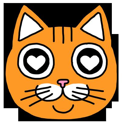 Orange Cat Stickers messages sticker-3