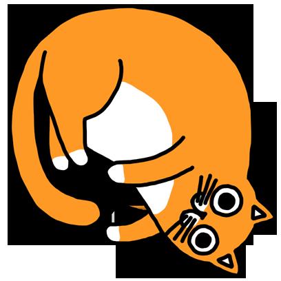 Orange Cat Stickers messages sticker-7