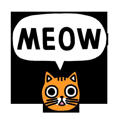 Orange Cat Stickers messages sticker-9