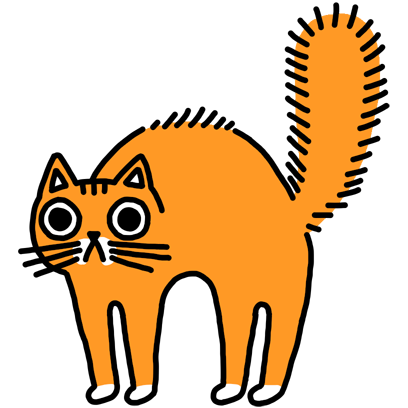 Orange Cat Stickers messages sticker-2